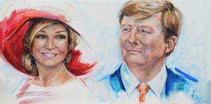 Annelies van der Sman - Portret van de koning en koningin