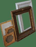 Inlijsten, schilderijlijst, kunststof lijsten, houten lijsten