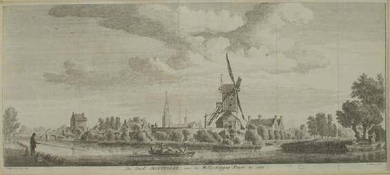 Montfoort, molen, oude gravures en landkaarten