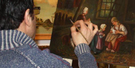 retoucheren, schilderij, restauratie