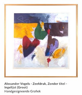 Alexander Vogels, zeefdruk, abstract, kleur, limburg
