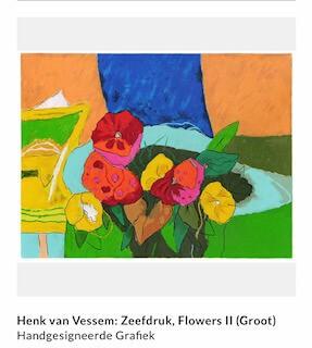 Henk van Vessem, Bloemen, flowers, zeefdruk, abstract, kleuren