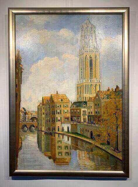 Smit, grachten, Utrecht, Dom in Utrecht, stadsgezicht