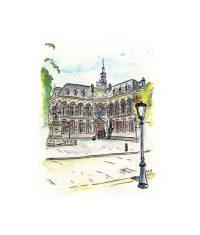 Schilderij - stadsgezichten 1