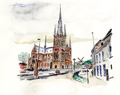 Woerden, bovanventurakerk