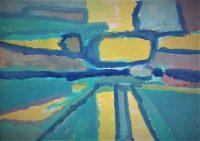 Landschap schilderij - en de zee 3