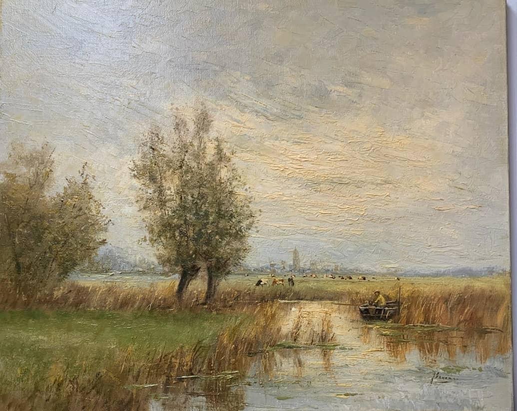 Ernens, polderlandschap, koeien, eenden