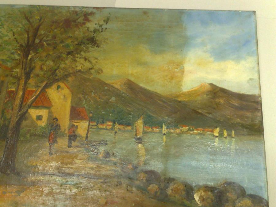 verkleurd schilderij