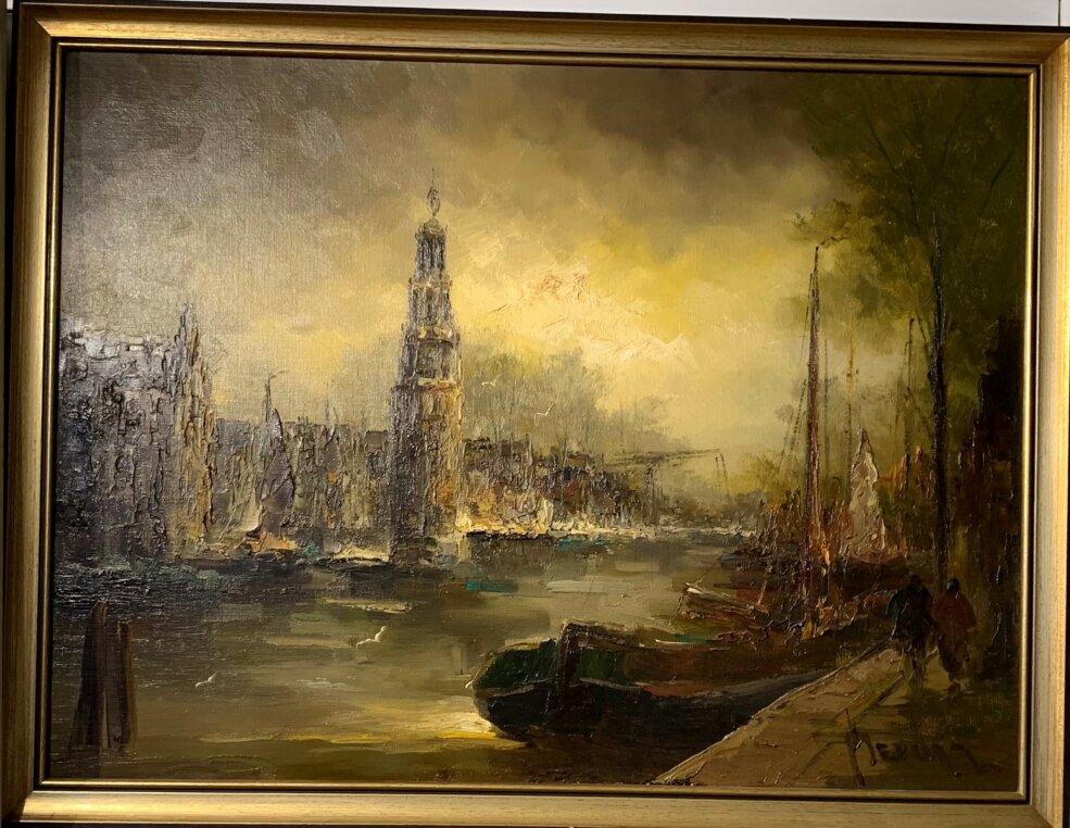 Henry Brand modern stadsgezicht met een plein